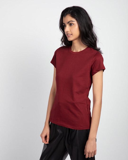 Shop Scarlet Red Half Sleeve T-shirt-Back