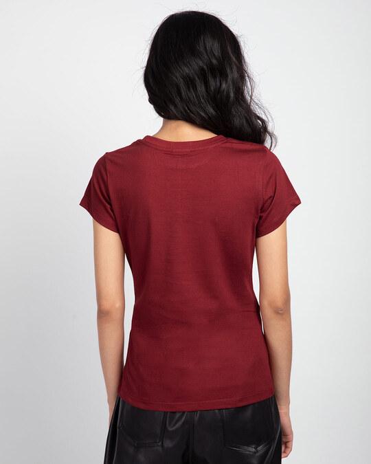 Shop Scarlet Red Half Sleeve T-shirt-Design