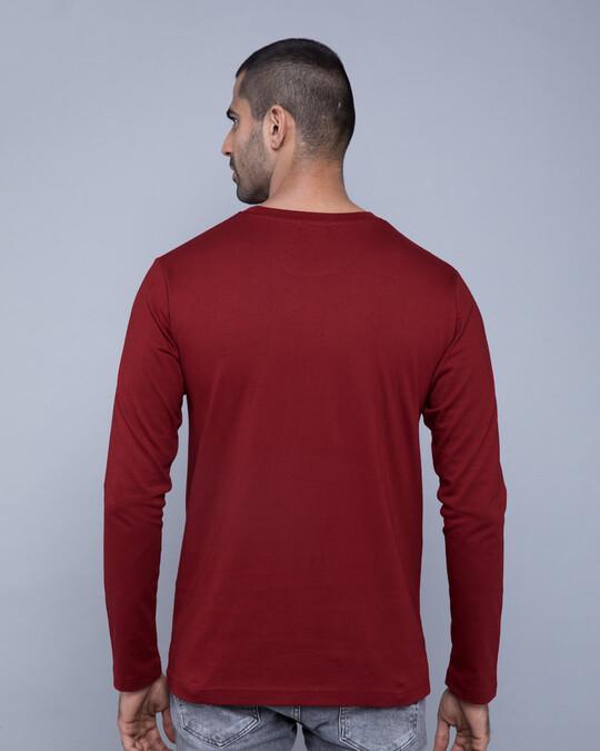 Shop Scarlet Red Plain Full Sleeve T-Shirt-Full