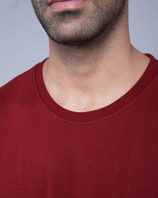 Shop Scarlet Red Plain Full Sleeve T-Shirt