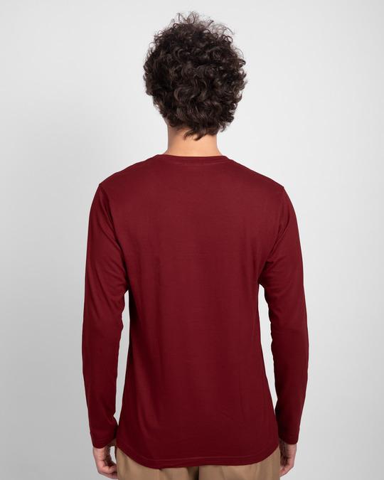 Shop Scarlet Red Plain Full Sleeve T-Shirt-Design