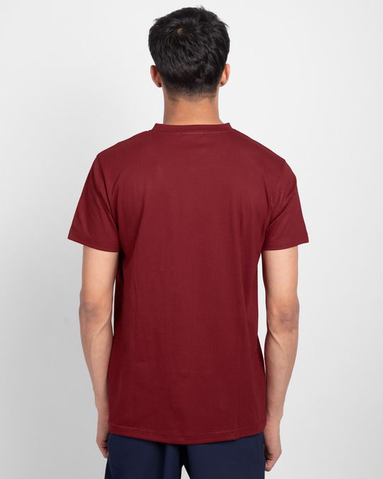 Shop Scarlet Red V-Neck T-Shirt-Design