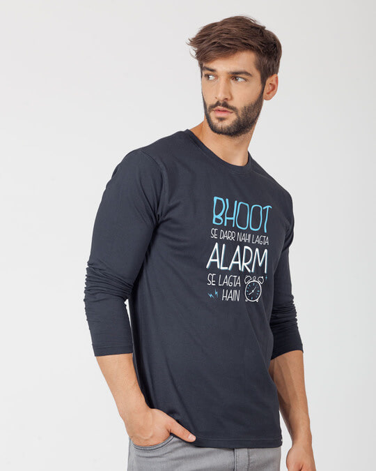 Shop Scary Alarm Full Sleeve T-Shirt-Back
