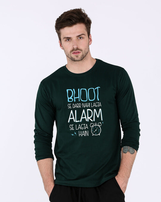 Shop Scary Alarm Full Sleeve T-Shirt-Front