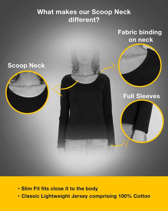 Shop Food Lover Scoop Neck Full Sleeve T-Shirt-Design