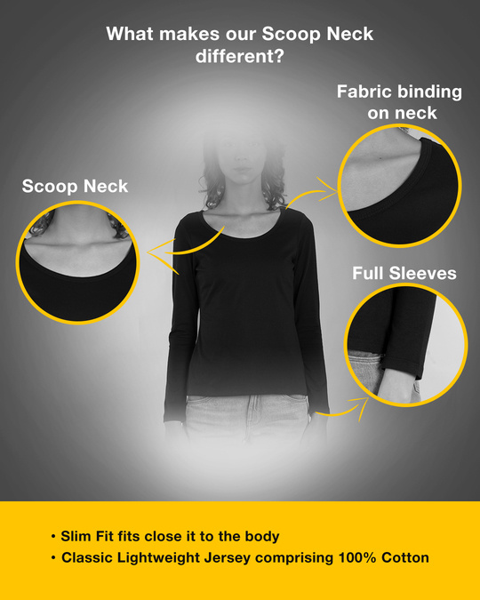 Shop Eyeliner Struggle Scoop Neck Full Sleeve T-Shirt-Design