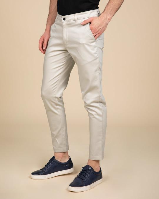 Shop Scotch Mist White Slim Fit Cotton Chino Pants-Design