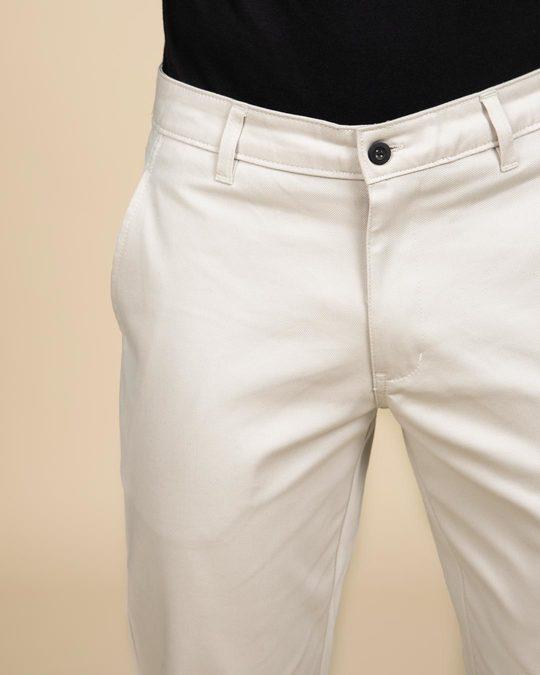Shop Scotch Mist White Slim Fit Cotton Chino Pants