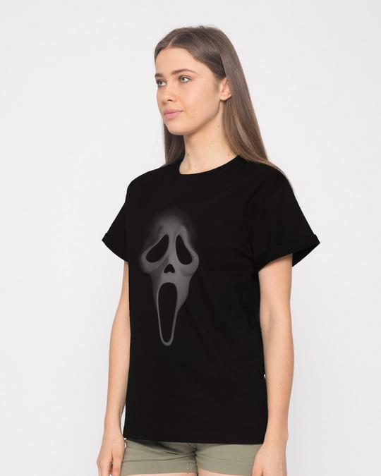 Shop Scream Mask Boyfriend T-Shirt-Back