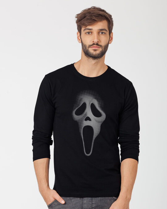 Shop Scream Mask Full Sleeve T-Shirt-Front