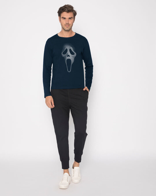 Shop Scream Mask Full Sleeve T-Shirt