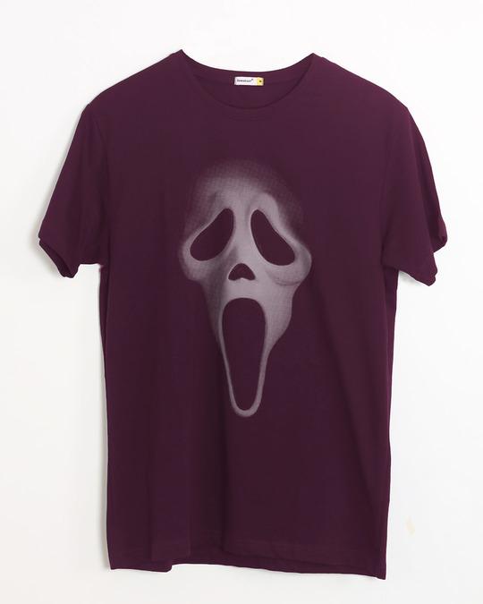 Shop Scream Mask Half Sleeve T-Shirt-Front