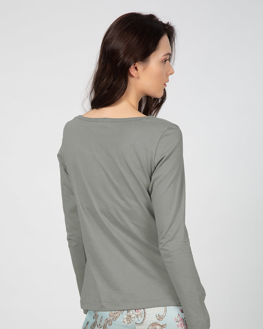 Shop Screw Perfection Scoop Neck Full Sleeve T-Shirt-Back