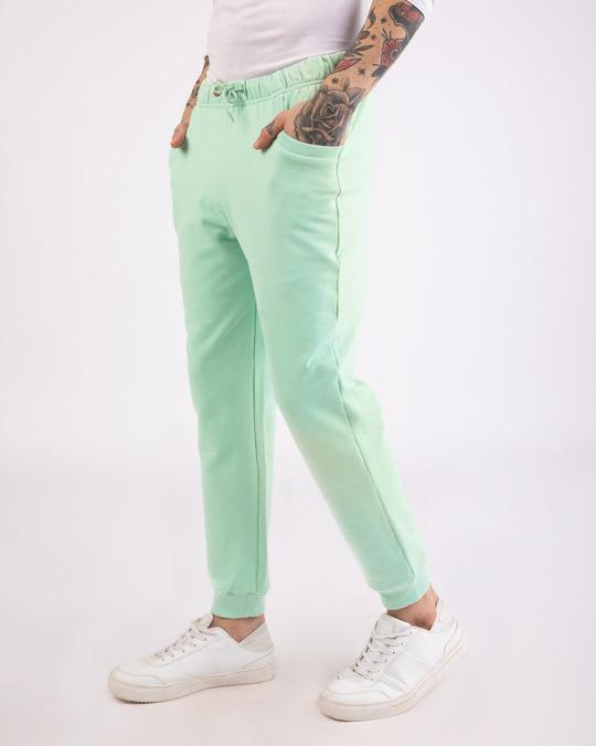 Shop Sea Green Casual Jogger Pants-Back