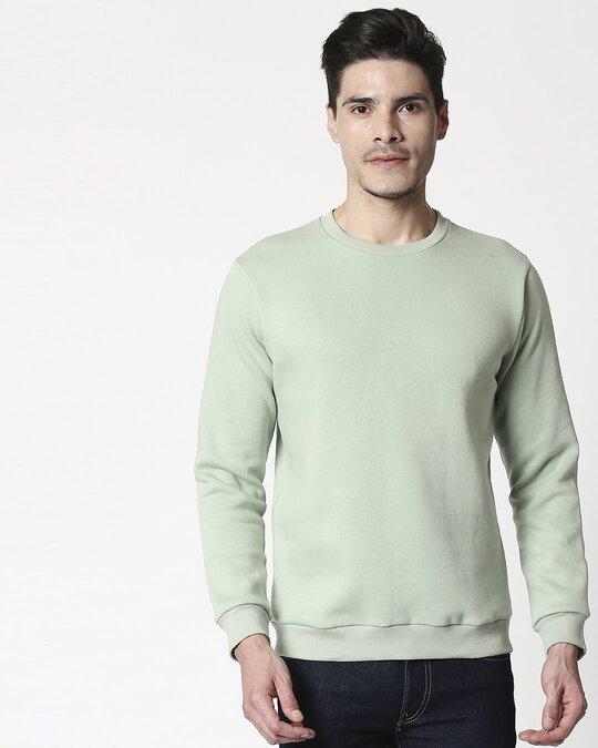 Shop Sea Green Fleece Sweater-Back