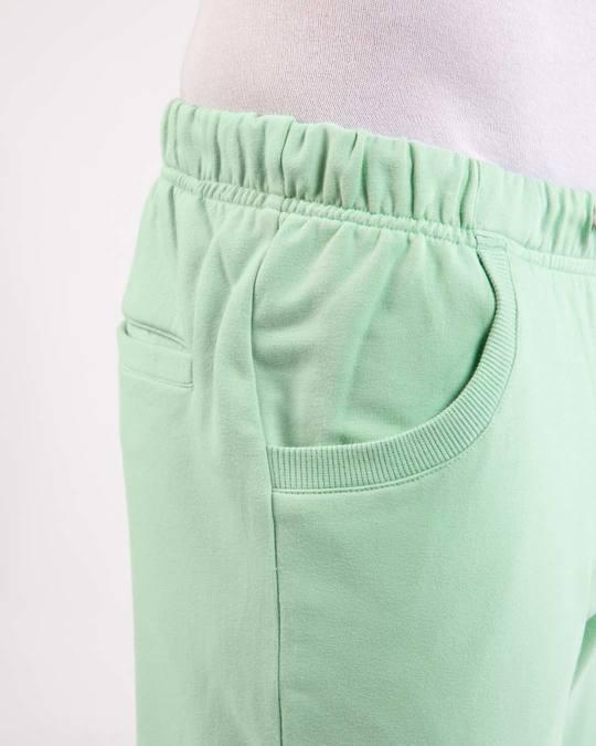 Shop Sea Green Round Pocket Joggers Pants