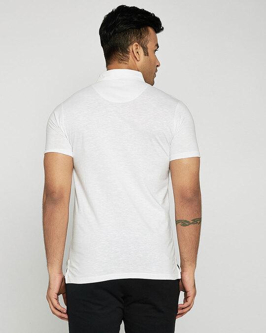 Shop Seashell White Slub Polo-Design