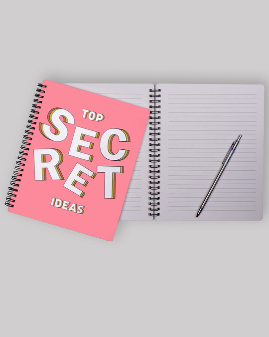Shop Secret Idea Spiral Notebook-Back