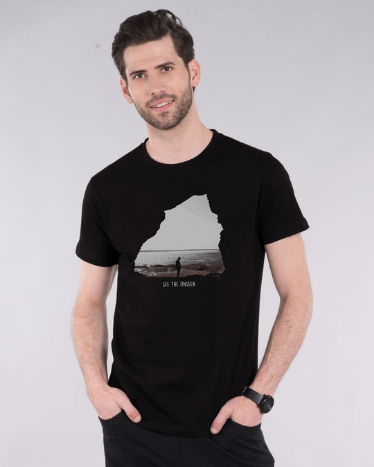 Shop See The Unseen Half Sleeve T-Shirt-Front
