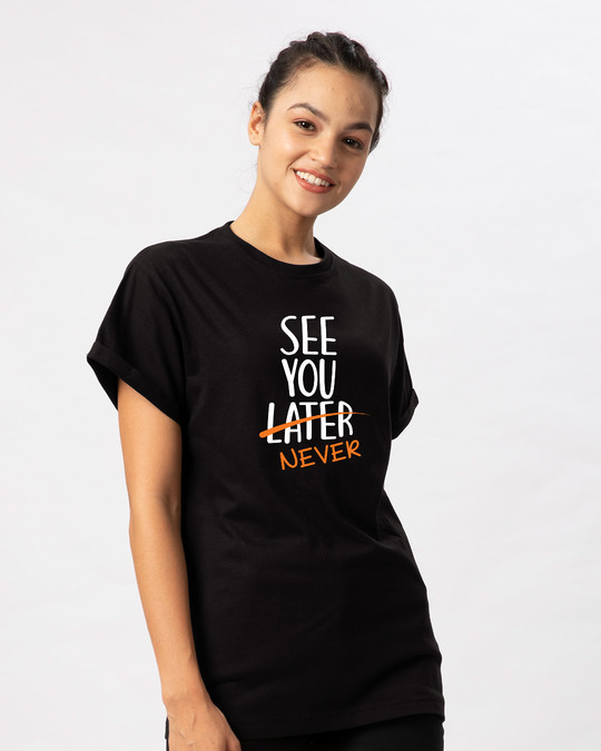 Shop See You Never Boyfriend T-Shirt-Back