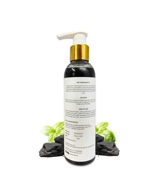 Shop Charcoal With Basil Mint Hand Wash-Back
