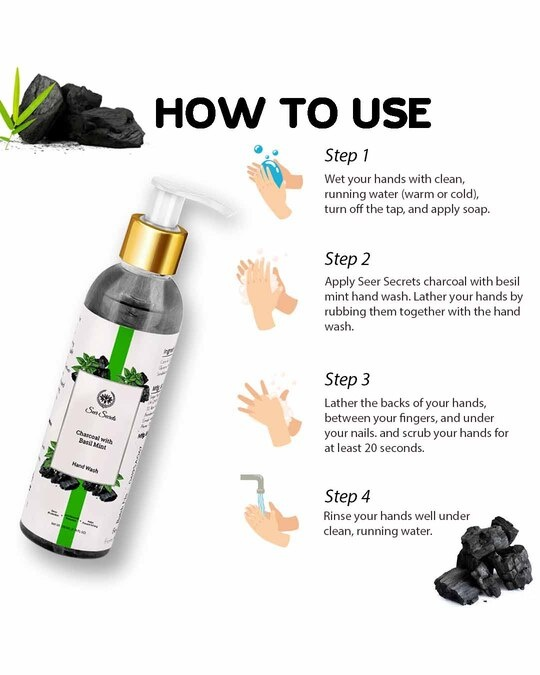 Shop Charcoal With Basil Mint Hand Wash