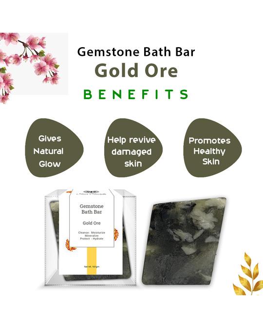 Shop Gold Ore Gemstone Bath Bar-Design