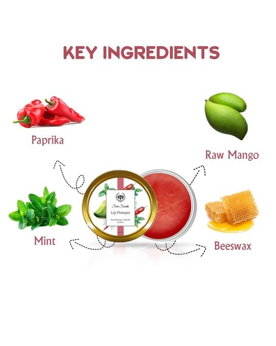 Shop Raw Mango, Paprika And Mint Lip Plumper  For Chapped Lips