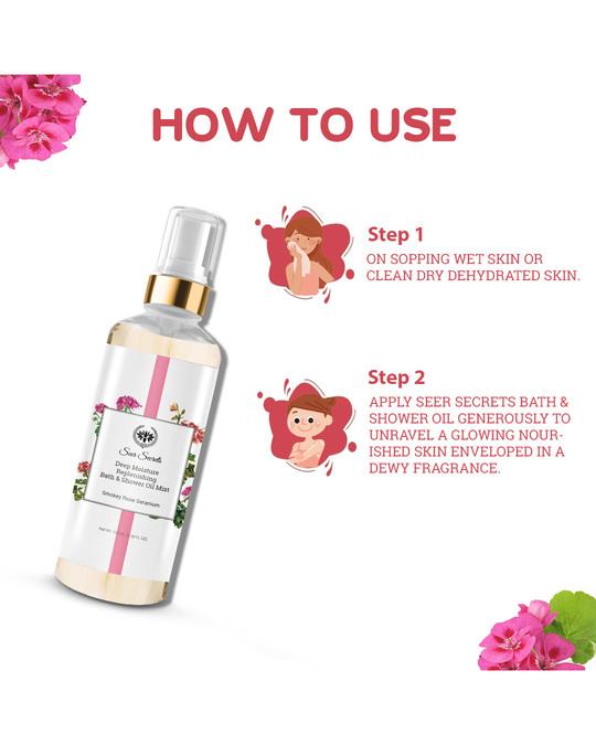 Shop Smoky Rose Geranium Deep Moisture Replenishing Bath And Shower Oil-Full