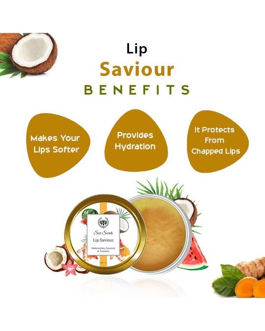 Shop Watermelon, Coconut And Turmeric Lip Saviour  For Dry Lips-Design