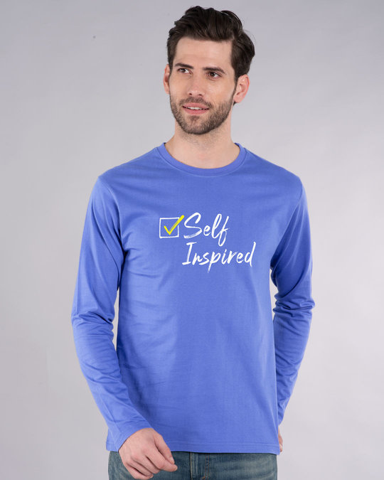 Shop Self Inspired Tick Full Sleeve T-Shirt-Front