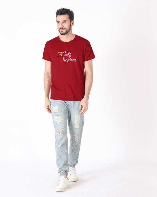 Shop Self Inspired Tick Half Sleeve T-Shirt-Design