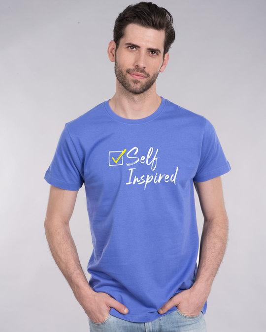 Shop Self Inspired Tick Half Sleeve T-Shirt-Front