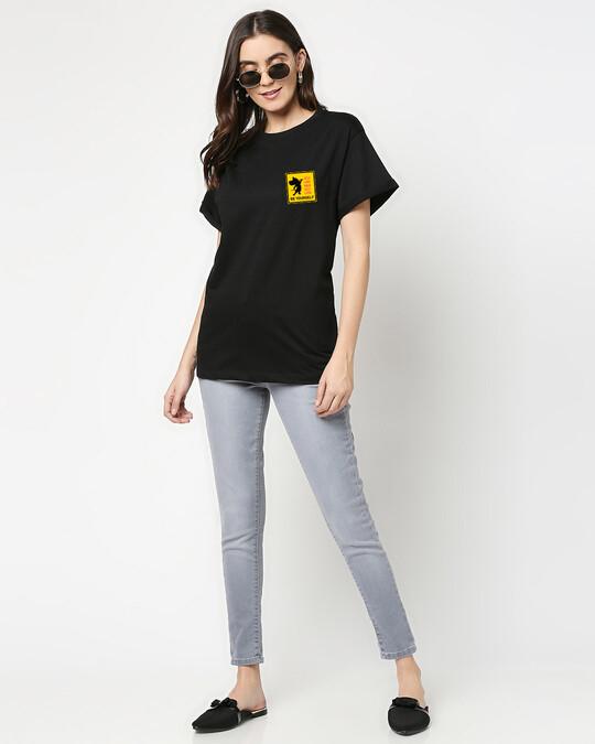 Shop Self love Jerry Boyfriend T-Shirts Black (TJL)-Full