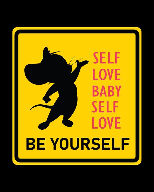 Shop Self love Jerry Boyfriend T-Shirts Black (TJL)