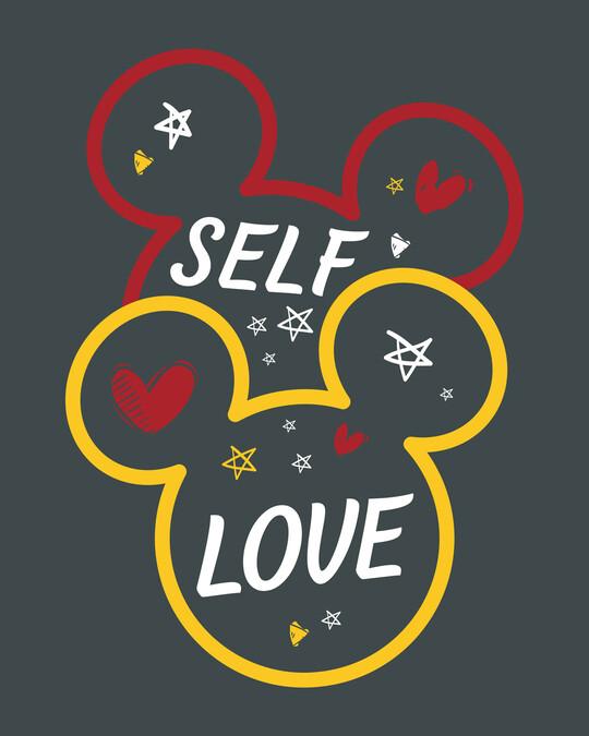 Shop Self Love Minnie Half Sleeve T-Shirt (DL)-Full