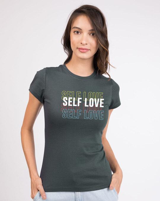 Shop Self Love Repeat Half Sleeve T-Shirt-Front