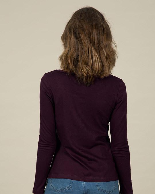 Shop Self Love Scoop Neck Full Sleeve T-Shirt-Back