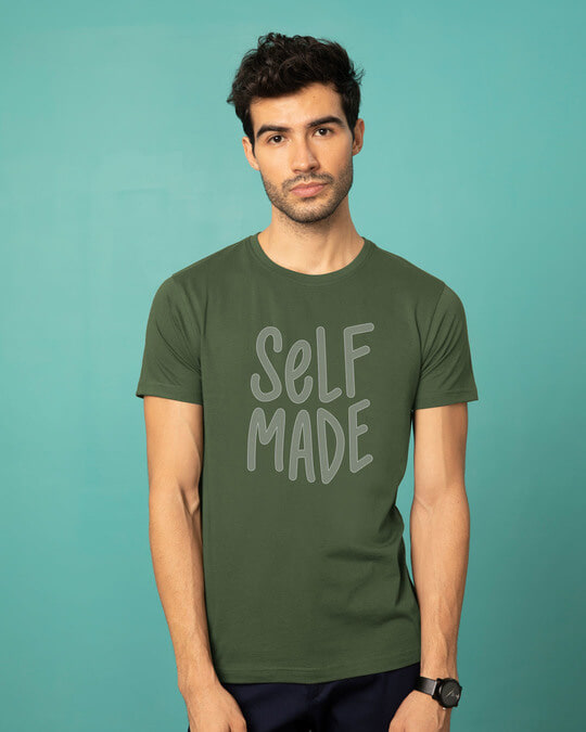Shop Self Made Half Sleeve T-Shirt-Back