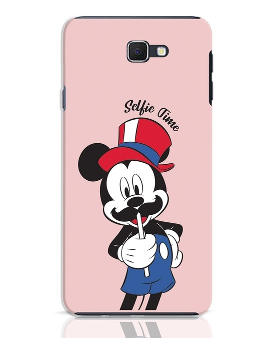 Shop Selfie Mickey Samsung Galaxy J7 Prime Mobile Cover-Front