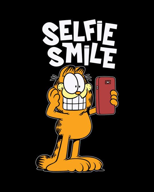 Shop Selfie Smile Garfield Half Sleeve T-Shirt (GL)