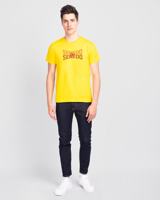 Shop Senedo Half Sleeve T-Shirt Pineapple Yellow-Design
