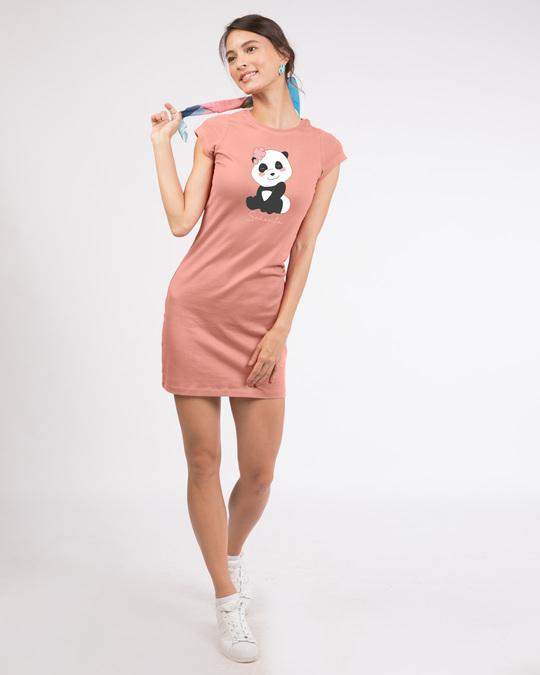 Shop Senorita Panda Cap Sleeve T-Shirt Dress-Design
