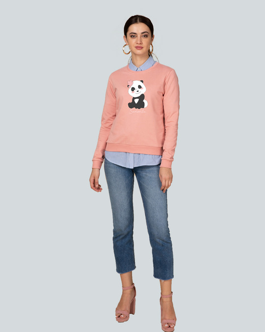 Shop Senorita Panda Fleece Light Sweatshirt-Design