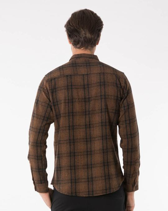 Shop Sepia Brown Checked Shirt-Design