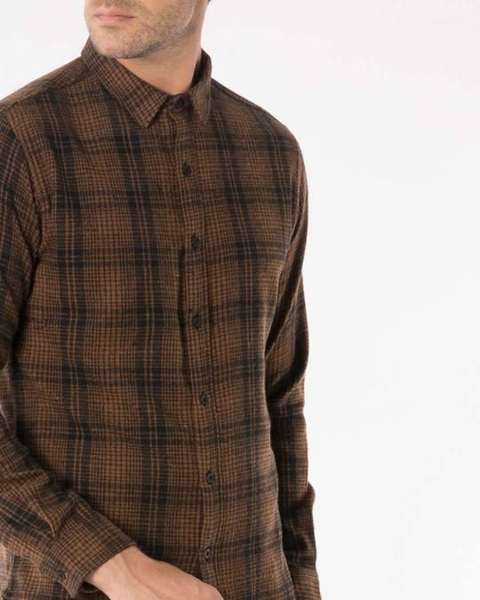 Shop Sepia Brown Checked Shirt
