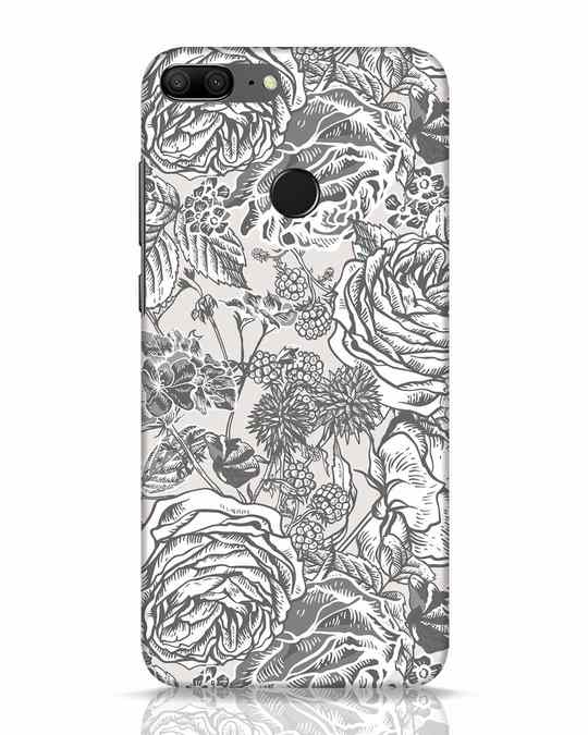 Shop Sepia Floral Huawei Honor 9 Lite Mobile Cover-Front