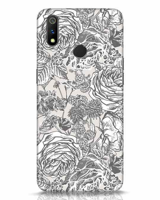 Shop Sepia Floral Realme 3 Pro Mobile Cover-Front