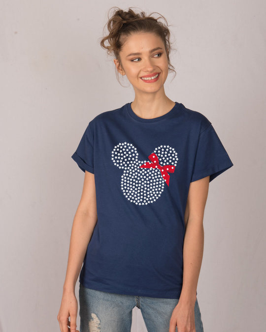 Shop Sequins Mickey Boyfriend T-Shirt (DL)-Front