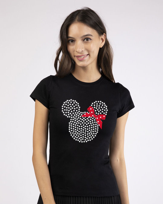 Shop Sequins Mickey Half Sleeve T-Shirt (DL)-Front